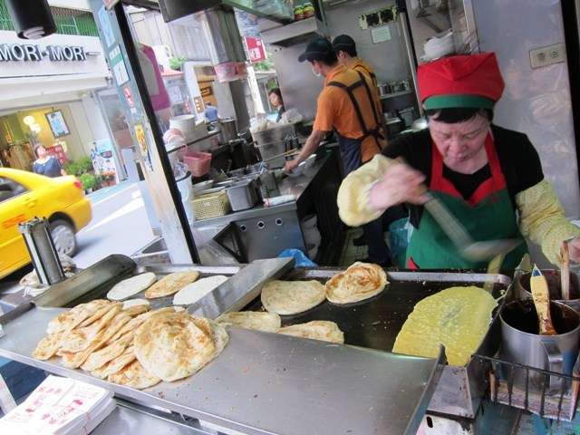 Scallion pancake stand