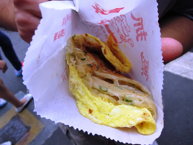 Scallion pancake with egg