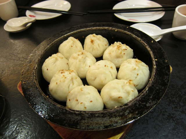 Shanghainese steam fried dumplings