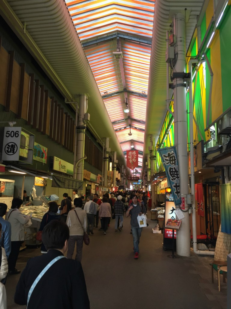Inside Omi-cho market