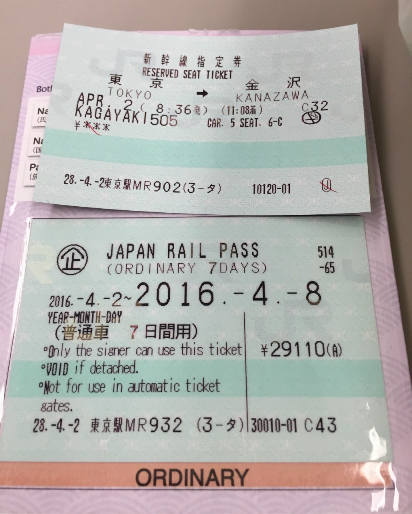 JR Pass and Train Ticket